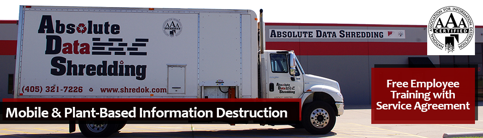 Truck and Facility for Absolute Data Shredding in the Metro Oklahoma Region