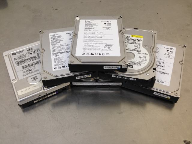 Hard Drives Ready to be shred at Absolute Data Shredding in Oklahoma