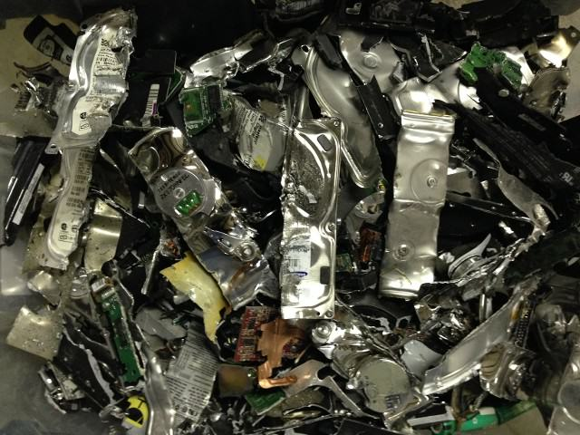 Destroyed Hard Drives from Absolute Data Shredding located in Oklahoma